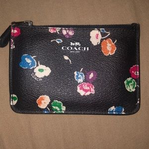 Black floral coach wallet, used only a few times
